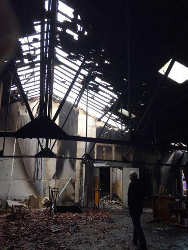 Incendie au Comptoir de la Victorine